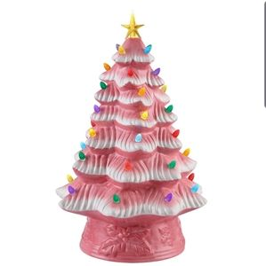 "16"" Mr. Christmas pink ceramic Christmas tree"